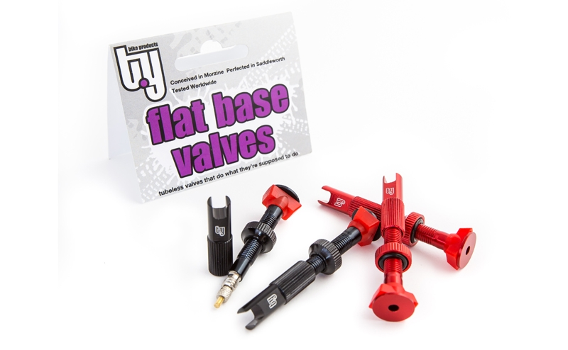 Flat Base Tubeless Valves with Pro Cap